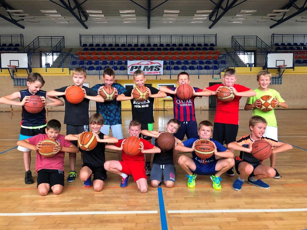Pierwszy obóz młodych koszykarzy