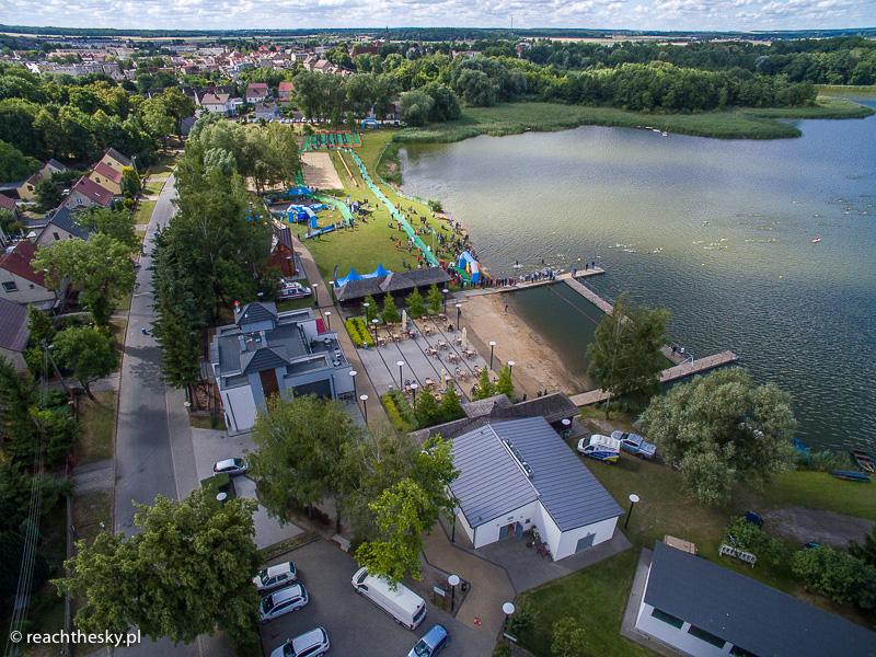Triathlon wobiektywie drona